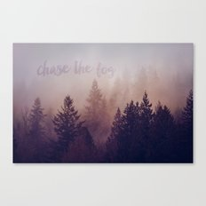 chase the fog Canvas Print