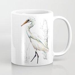Mr Kotuku , New Zealand White Heron Coffee Mug