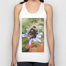 Bee on flower 18 Unisex Tank Top