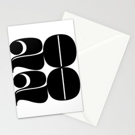 2020 Year | Typography | Square Stationery Cards