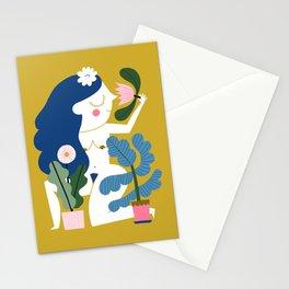 Blue Plant Lady Stationery Cards