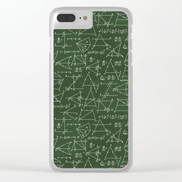 Geek math pattern Clear iPhone Case
