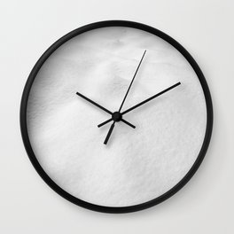 Snowscape // High Resolution Snow Drift Close Up Landscape Photo Winter Vibes Wall Clock