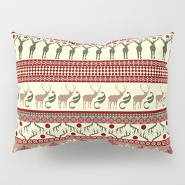 Classic Reindeer Ugly Sweater Pillow Sham