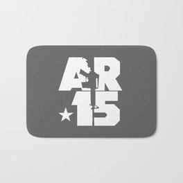 AR-15 (Gunmetal/White) Bath Mat