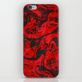Black & Red Marble II iPhone Skin
