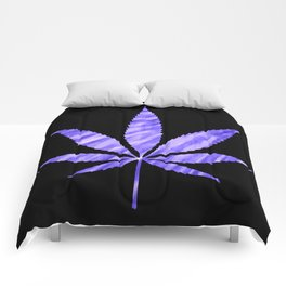 Weed : High Times Purple Blue Comforters