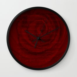 Love Letter Rose Wall Clock