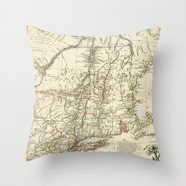 American Revolutionary War Map (1782) Throw Pillow