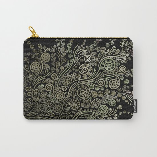 Gold on black Carry-All Pouch
