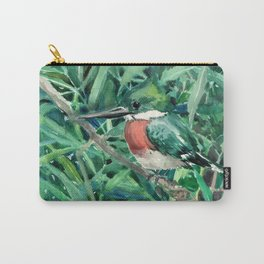Green Kingfishers and Green Grass Carry-All Pouch