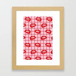 My Lips Are Sealed Framed Art Print