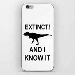 Extinct T-Rex iPhone Skin