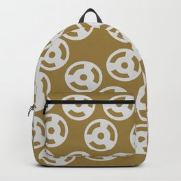 Discs Silver on Gold Backpack