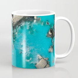 Turquoise with Gold Veining and Deposits Coffee Mug