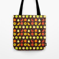 fruit Tote Bags featuring FRUIT by badOdds