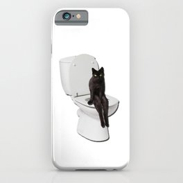 Toilet Cat iPhone Case