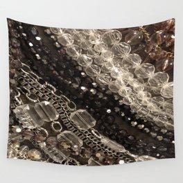 Jewel, glitz, glamor, glam, bling, diamonds, beads, girly Wall Tapestry