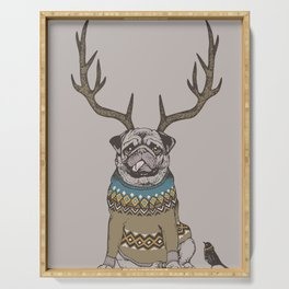 Deer Pug Serving Tray