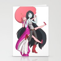 marceline Stationery Cards featuring Marceline & Bubblegum by Concannon Kauffman