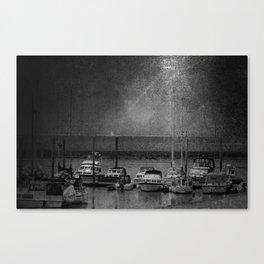 Harbour of Neuharlingersiel lower saxony Germany Canvas Print