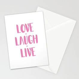 Love.Laugh.Live Stationery Cards