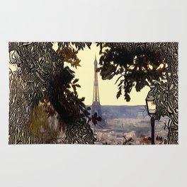 Patterns of Places - Eiffal Tower, Paris Rug