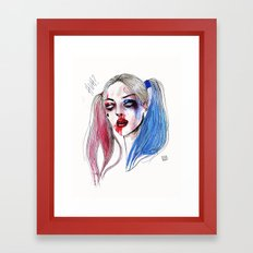 Margot as Harley quinn Fan art Framed Art Print