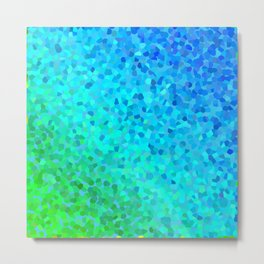 Pearl gradient watercolor drops Metal Print
