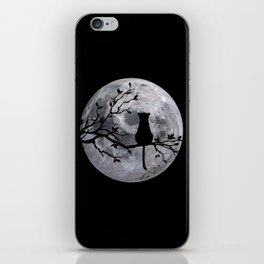 The Cat And The Moon iPhone Skin