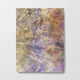 Purple Gold Metal Print