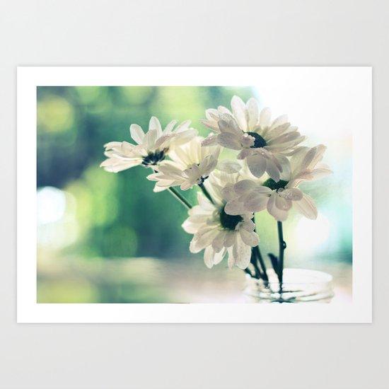 White Daisies - Simplicity Art Print