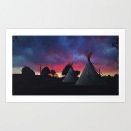 The Teepees at El Cosmico - Marfa, Texas Art Print