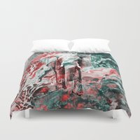 silent Duvet Covers featuring Elephant's Silent Cries  by Eduardo Doreni