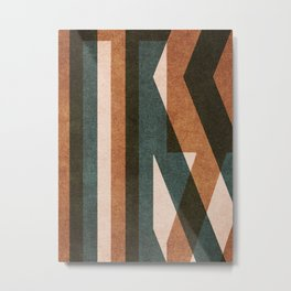 ABSTRACT ALPHABET / Decorative K Metal Print