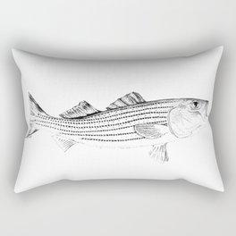 Striped Bass - Pen and Ink Illustration Rectangular Pillow
