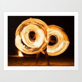Fire Show Art Print