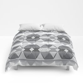 Gray triangle abstract Comforters