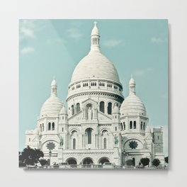 Paris Photography Sacre Coeur Montmartre France Europe Metal Print