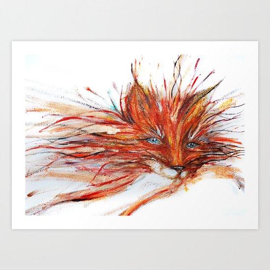 Vibrant Fox Art Print