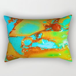 Orange to Blue Medley Rectangular Pillow