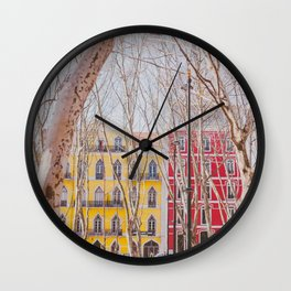 Colourful Street Wall Clock