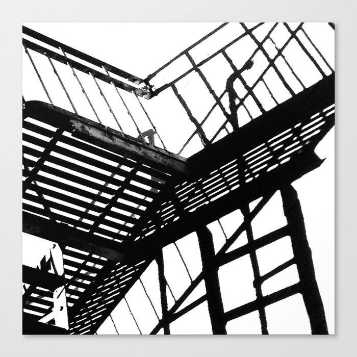 Escape in Black & White Canvas Print