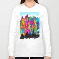 cityscape Long Sleeve T-shirts featuring CityScape by Artbymaritza