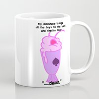 asexual Mugs featuring Asexual Milkshake by Satyrbug