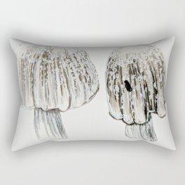 Fly on Mushrooms Rectangular Pillow