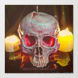 Catacomb Culture - Skull Candle Canvas Print