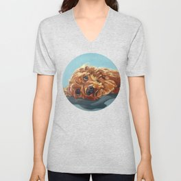 Newton the Lounging Cocker Spaniel Unisex V-Neck
