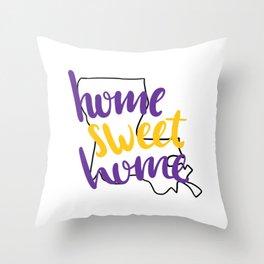 Home Sweet Home LSU Throw Pillow