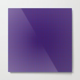 Burgundy and Navy Blue Polka Dot Pattern Metal Print